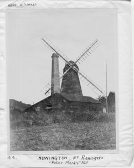 Smock mill, Newington, Ramsgate, with adjacent chimney stack