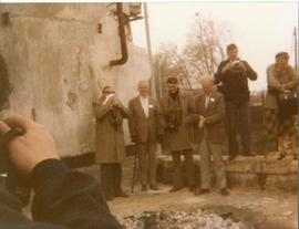 Photograph of a group of molinologists on the 1982 TIMS Tour, France