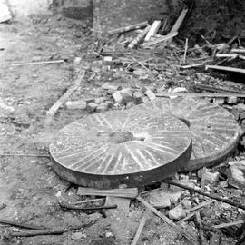 Detail of discarded millstone, Melbury Abbas Mill, Barfoot, Shaftesbury
