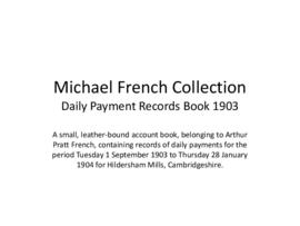Daily Payment Records Book 1903
