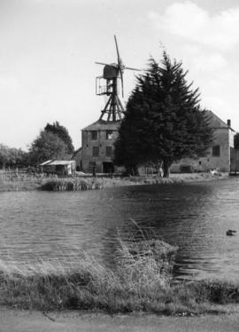 View across the millpond, Hackett's Mill, West Ashling