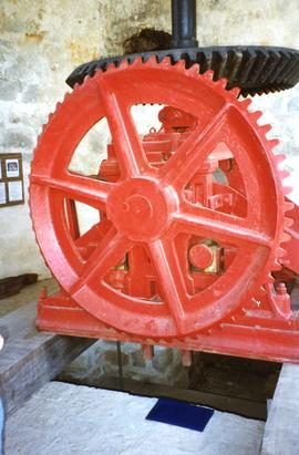 Photograph of part of a horizontral three-roll crusher, Betty's Hope, Antigua