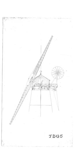 Section thro mill cap and sail