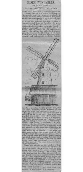 """IV. The windmill at Stock"""