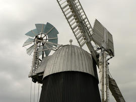 Fantail and patent sails on Wicken Windmill, Cambridegshire