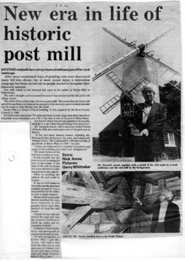 New era in life of historic post mill, Stocks Mill, Wittersham