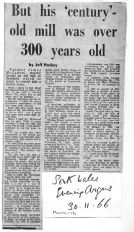""" 'Century-old mill' is over 300 years old"""