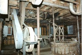 Sack hoist and millstone, watermill, Hoxne
