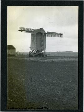 Chillenden post mill, 2 April 1954