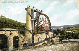 Wheel with panoramic view, Lady Isabella Waterwheel, Laxey