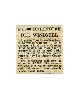 """£7,000 to restore old windmill"""