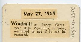 """Examination of Lacey Green Windmill"""
