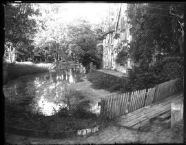 View of water mill and mill pond
