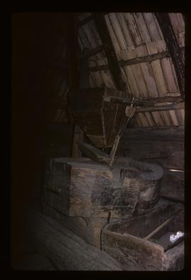 Interior of wind- or watermill