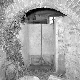 Interior of the wheel pit, Barcombe Farm, Alton Pancras