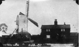 Post mill, Charsfield, and House