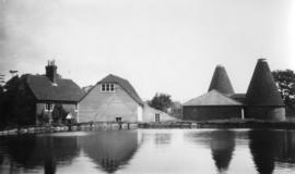 Mill with buildings and oast houses