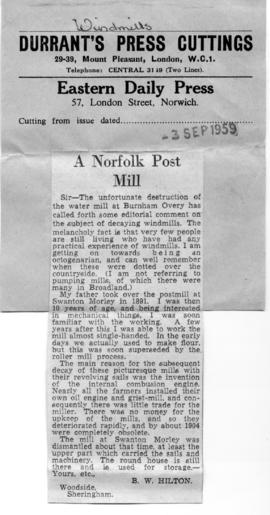 """A Norfolk Post Mill"""