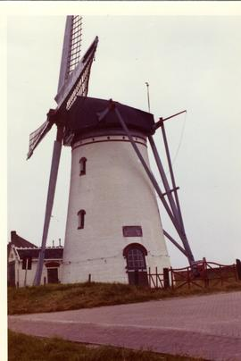 Preserved tower mill at Staverisse{?} near Tholen, Netherlands