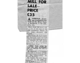 """Mill for Sale - Price £35"""