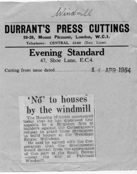 """ 'No' to houses by the windmill"""