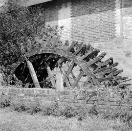 Detail view showing the waterwheel, Albury Mill, Witchampton