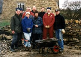 A team of volunteers at Heage Tower Mill
