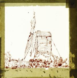 Post mill sketch