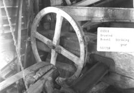 Striking gear in the post mill in Broxted, Essex