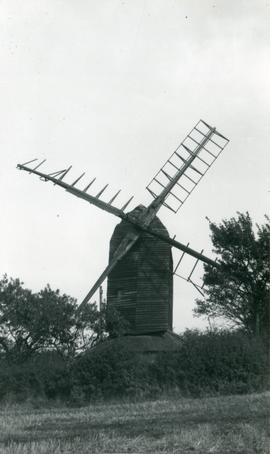 Post mill, Ashdon, from distance