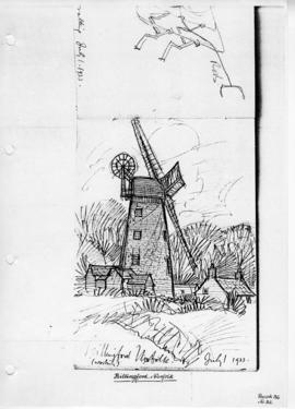 Billingford Mill and trees. Bk 36, no 32