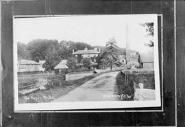 Copy of a postcard of 1912 showing a general view of the mills