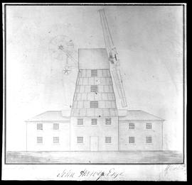 Smock mill showing fantailo and Cubitt's Patent sails
