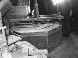 Stone furniture, smock mill, Herne