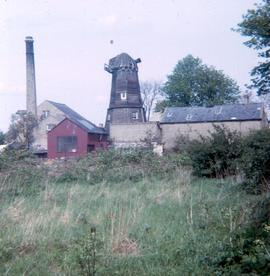 Chesterton Mills and buildings from a field