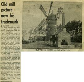"""Old mill picture now his trademark"""