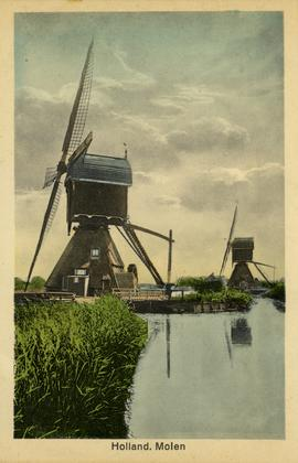 Two windmills located in Holland
