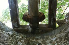 Photograph of a windshaft on a mill, Marie Galante, Guadeloupe