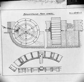 Copy of a section and detail drawing by J Addison of the wheel
