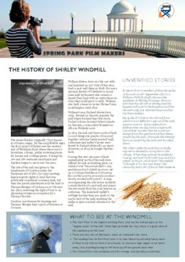 Notes on the history of Shirley Windmill.