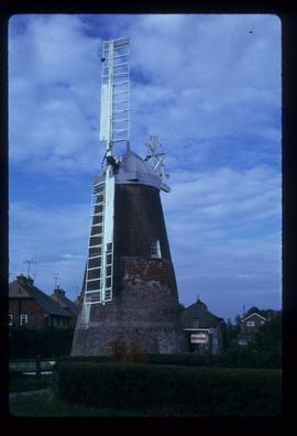 Ovenden's Mill, Polegate, preserved with two sails and stage missing
