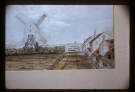 Port Hall Mill, Brighton, photograph of watercolour(?)