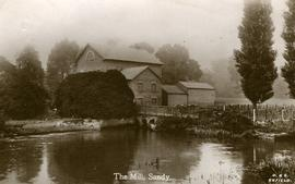 View from downstream, watermill, Sandy