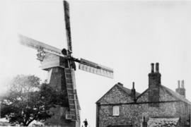 Ripple Mill, Ripple, with miller and house