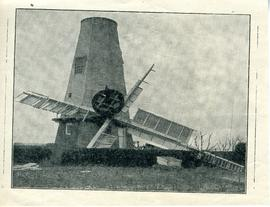 Mill with fallen cap and sails