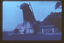 Weston Farm Mill, Buriton, in act of being pulled down
