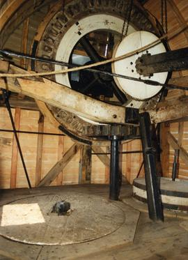 Brake Wheel and Great shaft, post mill, Chillenden