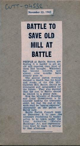 """Battle to save old mill at Battle"""