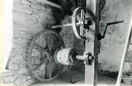 Photograph of wheel raising gear, Vuillafans watermill, France