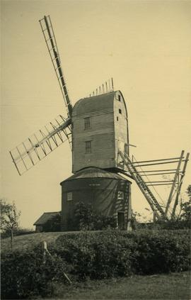 Kent's Mill, Earl Soham, showing fanstage with fan